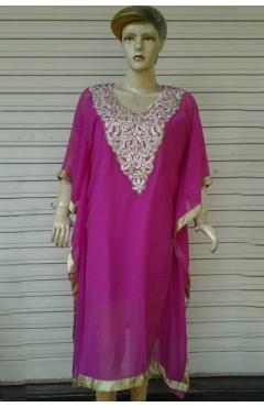 Pink Designer Chiffon Kaftan