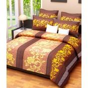 Brown n Yellow floral bedsheet