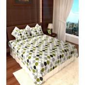 Multicolour bubble designed bedsheets