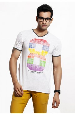 Design Classics Grey Melange Men's Tshirt