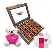 Heartfelt Love Chocolates with Cute Teddy