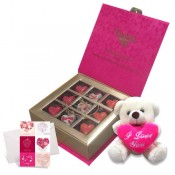Choco Delirious with Love Card and Teddy