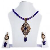 Peacock Blue Crystal Set (Pendant Set)