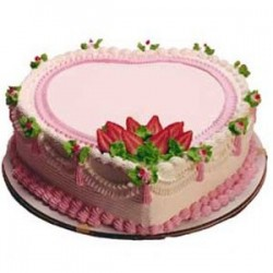 Heart Strawberry Cake