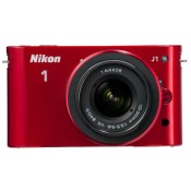 Nikon 1 J1 Red, Body with 10-30 mm Lens