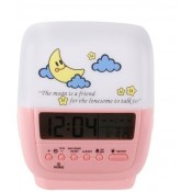 Horo HD075-001 Digital Clock White, Pink