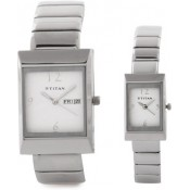 Titan Bandhan Analog Watch - For Couple Silver
