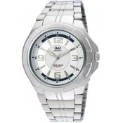Q&Q Analog Watch - For Men Silver