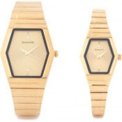 Sonata Pairs Analog Watch - For Couple Gold