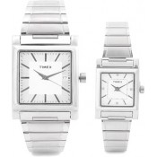 Timex Formals Analog Watch - For Couple Silver