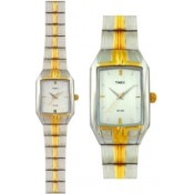 Timex Dresswear Analog Watch - For Couple Gold, Silver