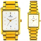 Titan Analog Watch - For Couple Gold