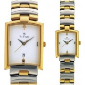 Titan Analog Watch - For Couple Gold, Silver