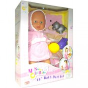 15-inch/38 Fully Vinyl WaterProof Bath Fn Baby Doll set