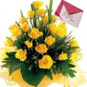 Valentine Yellow Rose