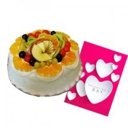 Fruity Valentine Cake
