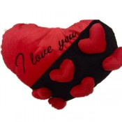 Red and Black Heart Pillow