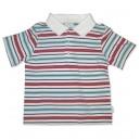 Red Aqua Stripped Tshirt