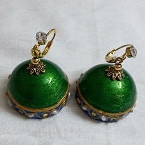 Green designer Earring