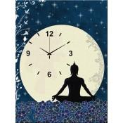 Budda in Meditation Canvas Clock