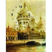 Sepia World Canvas Clock