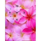 pink petals Canvas Clock