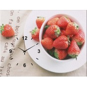 Strawberrys Canvas Clock