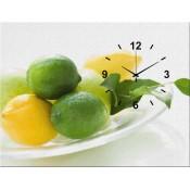 Fruits Canvas Clock