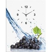 Grapes I Canvas Clock