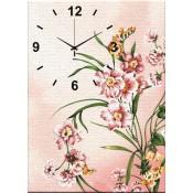 Pink Blush Canvas Clock