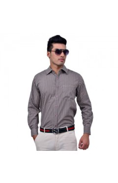 Beige Mufti Formal Shirt