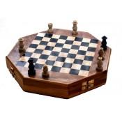 Hexagonal Marble Chess Board Box 10''