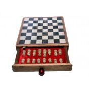 """Drawer Marble Chess Board Box 10"""""""