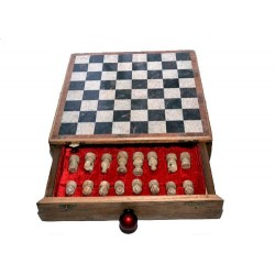 Drawer Marble Chess Board Box 10""