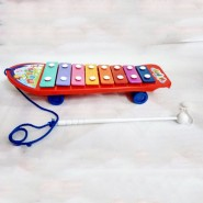 Cute Multicolor Xylophone with Wheels