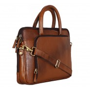 Brown designer office laptop bag