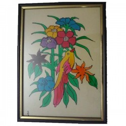 Bird n  Floral wall hanging