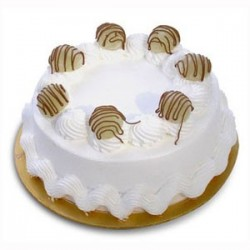 Vanilla Eggless Cake - 1Kg (Cake Point))
