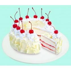 White Forest Cake - 1 kg (K.R.Bakes)