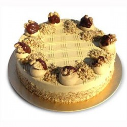 Butter Scotch Eggless Cake (Oven Fresh)