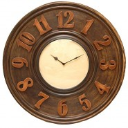 Elegant Wooden Look Wall Clock