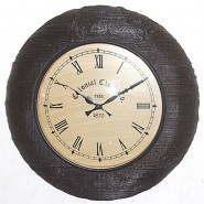 Simple Antique Wooden Look Wall Clock