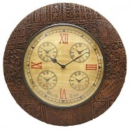 Rich Handcraved Look Wall Clock