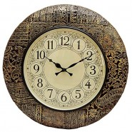 Handcraft Design Golden Shade Wall Clock