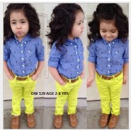 Blue n yellow Child wear