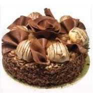 Chocolate truffle nest