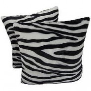 Chunmun fur Pillow zebra colour 2Pc zipped washable