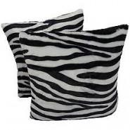 Chunmun fur Pillow zebra colour 2Pc zipped washable