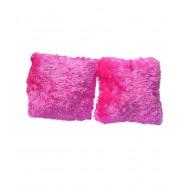 Chunmun fur Pillow Pink colour 2Pc zipped washable