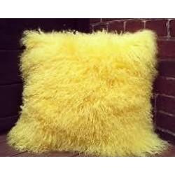 Chunmun fur Pillow yellow...